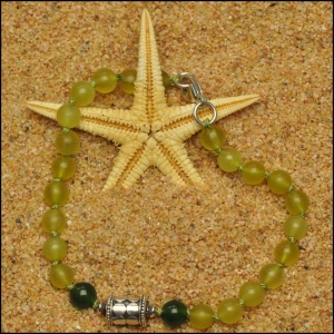 Shades of Green Jade Bracelet