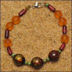 Mood Beads and Bamboo Bracelet