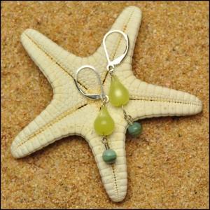 Vintage Lemon Drop and Opal Earrings