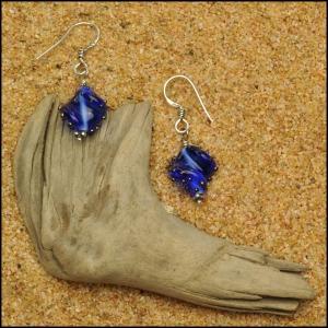 Sapphire Twist Earrings
