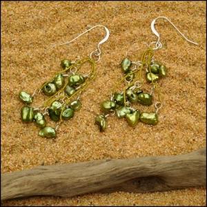Olive Pearl Earrings