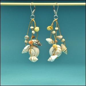Mixed Shell Dangle Earrings