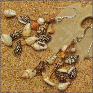 Tiger Nasa and Mixed Shell Earrings