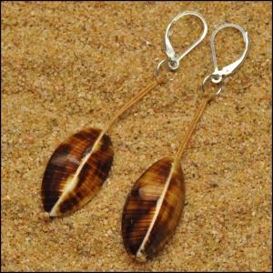Cockle Shells on Linen Earrings